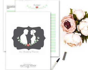 Printable Wedding Planner, wedding binder, DIY wedding binder, Wedding checklist, Wedding to do list