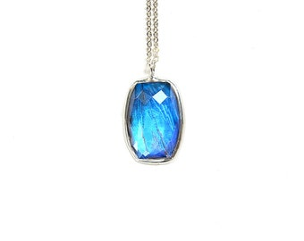 Butterfly Wing Necklace Real Blue Morpho Pendant Mother's Day Gift Faceted Glass Crystal Necklace Bridesmaid Jewelry Best Friend Necklace