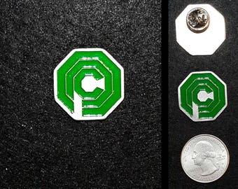 Hand Cast OCP (Robocop) 1 inch Lapel Pin or Magnet