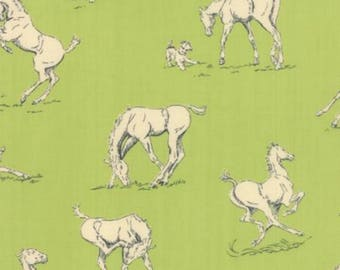 Purebred Pasture Green - Horsing Around - Erin Michael - Moda Fabrics 100% Quilters Cotton Available in Yards, Half Yards & Fat Quarters