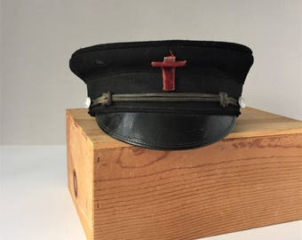Knights Templar Freemasonry Hat, Order of the Red Cross, Fatigue Pershing Style Hat, In Hoc Signo Vinces, Fraternal Religious Military Order
