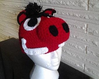Razorback Character Crochet hat. you choose size child-adult