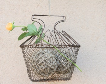 French wire hanging salad basket