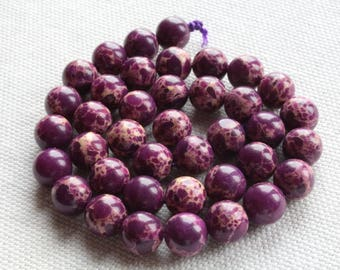 5 Jasper Aqua Terra natural 8mm purple / plum