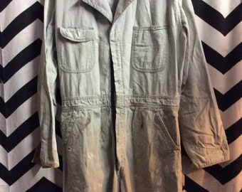 Vintage Blue Bell Sanforized Painters Jumpsuit