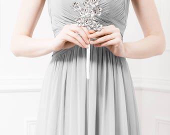 Bridesmaid Bouquet of Silver Flowers - Amelia Bridesmaid Bouquet - Wedding Bouquet Keepsake for your Bridesmaids