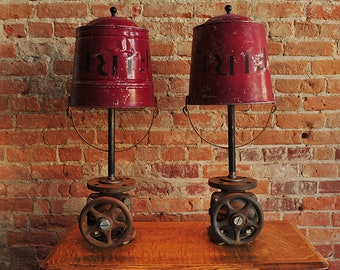 Set of Fire Bucket Lamps