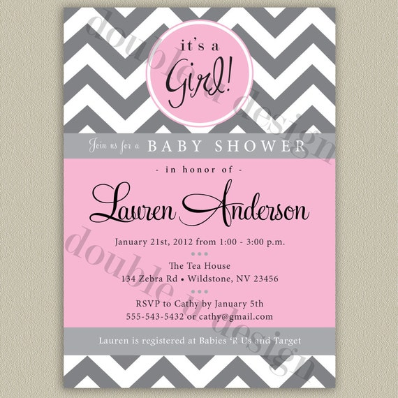 Superior Chevron Printable Baby Shower Invitation With Color Options