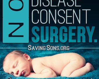 No Disease, No Consent, No Surgery Stickers