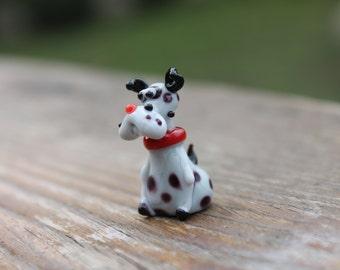 Blown Glass Dalmatian Dog Miniature Puppy Disney Collectible Figurine Homedecor gifts murano toy puppy fused dog unique handblown boro glass
