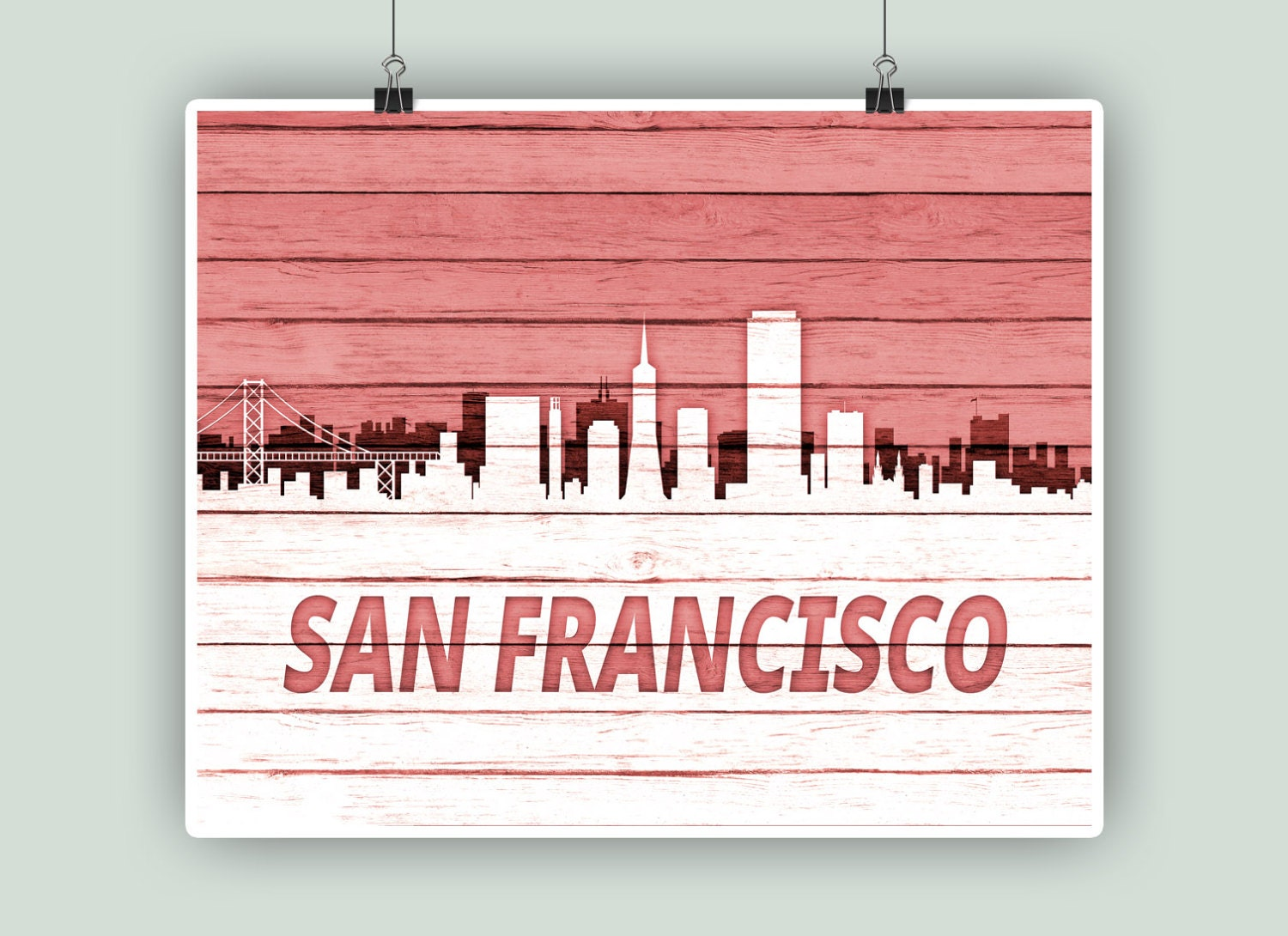 San Francisco Personalized Skyline San Francisco art