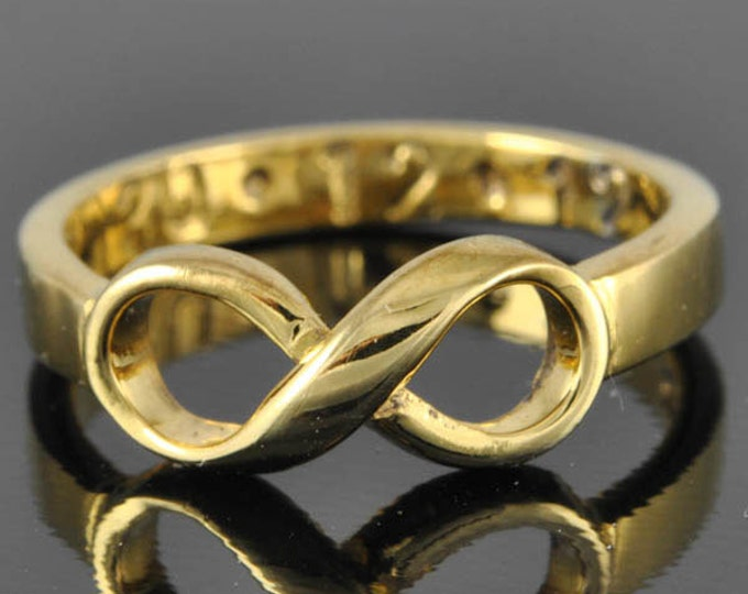 10K gold infinity ring, infinity knot ring, best friend ring, promise ring,personalized ring, friendship ring, sisters ring, Bridesmaid Gift