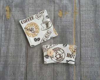 Coffee Coaster and Cup Sleeve set