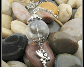"Dandelion Seed Pendant on 30"" Chain"