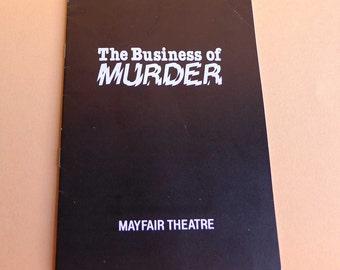 The Business of Murder London Theatre Program 1985 Richard Todd Mayfair Theatre West End Richard Harris