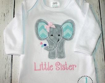 Little Sister Shirt, Little Sister Dress, Little Sister, Little Sister Gown, Little Sister Outfit, Sibling Shirts, Baby Shower Gift, Newborn