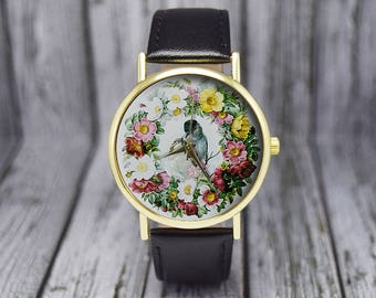 Vintage Love Birds Watch | Classic Style Flower Watch | Ladies Watch | Women's Watch | Birthday | Wedding | Gift Ideas | Fashion Accessories