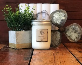 Lavender Chamomile 16oz Woodwick Candle