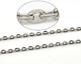 Silver mesh chain 50 cm chain