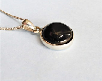 Whitby Jet and Sterling Silver Pendant