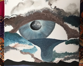 Eye waterfall painting
