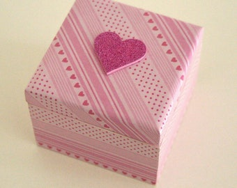 "Jewelry box, ring ""Glitter heart"""