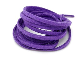 Suede, lace, purple, 3 mm