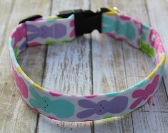 Easter Dog Collar - Personalized Dog Collar - Easter Dog Harness - Spring Dog Collar - Easter Dog Leash - Bunny Dog Collar - Spring Leash