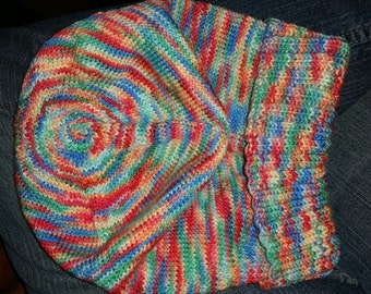 100% wool sock yarn hat