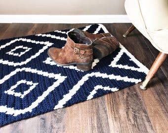 CROCHET PATTERN, Crochet Rug Pattern, Diamond Crochet Rug Pattern, Crochet, Patterns and Tutorials