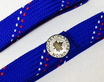 Blue Hockey Lace Wristy (Bracelet)