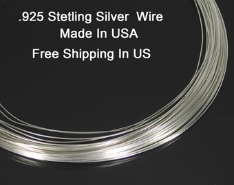 20 Ga Sterling Silver Round Wire ( Dead Soft )   .925 Sterling Silver Made In USA