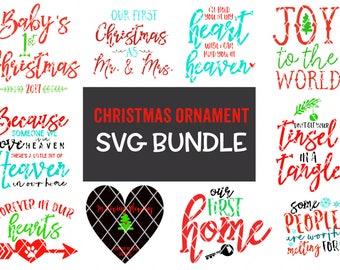 Christmas Ornament SVG Design Bundle - August 2017 Release -  Silhouette Cameo - Vinyl - Cricut
