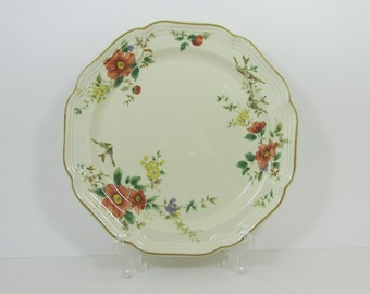 Mikasa Heritage Capistrano Dinner Plates 10 7/8  11 Available Open Stock Bird Swallows Orange Flowers China & Mikasa | Etsy