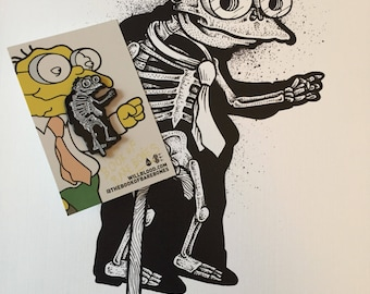 Hans Moleman Xray pin and print set