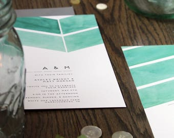 Mint | Wedding Invitation