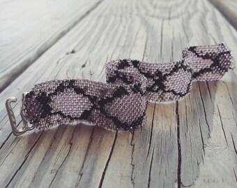 Violet Ombre Snakeskin Cuff Bracelet