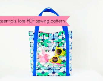 Essentials Tote PDF sewing pattern by HungryHippie Sews