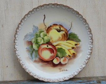 Colorful Hand Painted Fruit Plate!