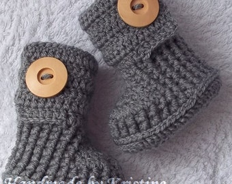 Baby Booties, Crochet Baby Booties, Boots for Baby, Newborn Booties, Handmade Baby Booties, newborn,0-3, 3-6 months old baby CHOOSE COLOUR