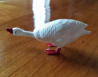 S. A. Reider Germany White Goose Duck Nodder