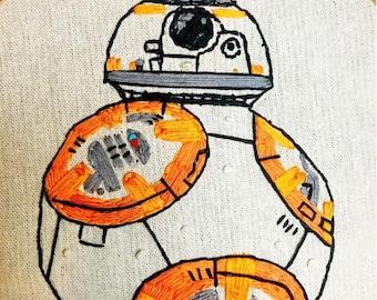 BB8 - Embroidery Hoop Art