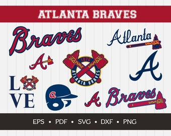 Atlanta Braves Cut Files, SVG Files, Baseball Clipart, Cricut Atlanta Braves Cutting Files, Baseball DXF, Clipart, Instant Download