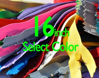 """5 each in colors 542,513,504,871,501,820. a total of 30 16"""" YKK Zippers Nylon Coil Dress Closed Bottom~ZipperStop  Distributor YKK®"""