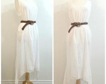 Vintage WHITE GAUZE DRESS / size