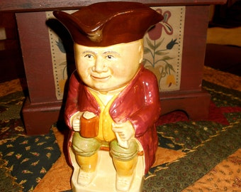 TOBY JUG / portly Colonial figure / made in England / Character Jug