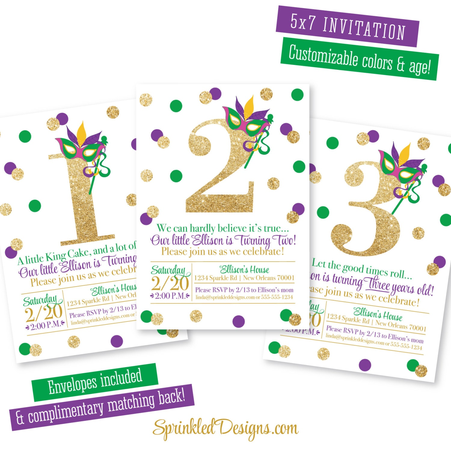 Mardi Gras Birthday Invitation Purple Green Gold Glitter Jpg 1500x1500 New Orleans Party Ideas