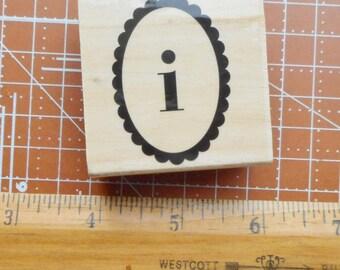 Lower Case I Rubber Stamp