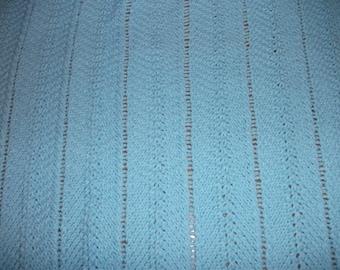Blue Chevron Baby Blanket