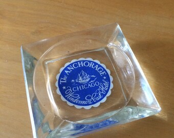 Vintage Anchorage Ashtray from Chicago Winderemere Hotel